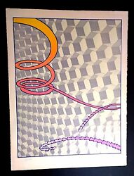 Robert Fried American 1937-1974 Rare Serigraph Between Time And Space Lot 127