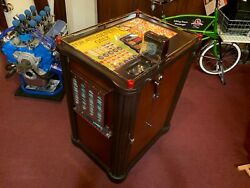 1940 PACE Console 5 Cent Slot Machine with Mint Vendor