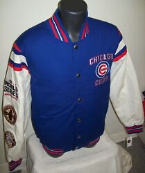 Chicago Cubs 3 Time World Series Championship Cotton Jacket S M Xl 2x