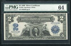 Fr. 258 1899 2 Two Dollars Andldquomini Portholeandrdquo Silver Certificate Pmg Unc-64