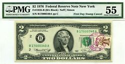 2 Dollars 1976 First Day Stamp Cancel Staten Island Ny Lucky Money 1976