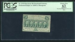 Fr. 1310 50 Cents First Issue Fractional Currency Note Andldquoperforatedandrdquo Pcgs Unc-63