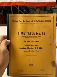 New York, New Haven And Hartford Railroad Company Time Table 13 October 29,1961