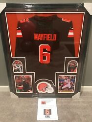 Baker Mayfield Framed Cleveland Browns Jersey - Signed - Coa 42 In. X 34 In.