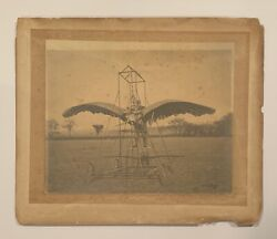 Spectacular 1902 E.p. Frost's Ornithopter Imperial Sized Cabinet Photo Antique