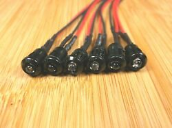 6 Bbt Marine Grade 12 Volt Amber Led Yellow Indicator Lights In Black Bezels