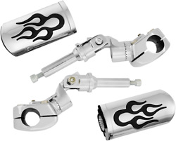 Show Chrome Flame 1 Adjustable Hightway Pegs For 18-19 Honda Gl1800 Gold Wing