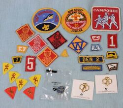 Lot Of 28 Vintage Brownie Cub / Boy / Scout Badges And Pins