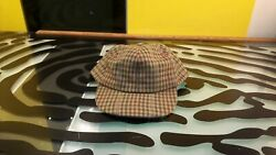 Heythrop Mens Hat Poorboy Style Cap Good Condition Sz Small Houndstooth Vintage