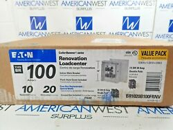 Eaton Cutler Hammer Br1020b100frnv Renovation Load Center 100 A With 1 Br 30a 2