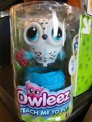 Owleez Interactive Pet Owl Toy - White New In Hand Damaged Packaging