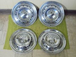 1950 Ford Hub Caps 15 Wheel Covers Deluxe Accessory Set 4 Crestline 1949 49 50