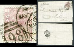 1873-80 2½d Rosy Mauve Plate 5 Sg 141 On Entire From Gb To Germany