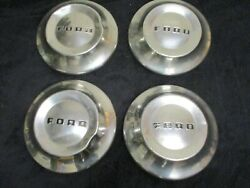 Set Of 4 1952 1953 Ford Car Truck Dog Dish Poverty Hubcaps Wheel Covers Rat Rod