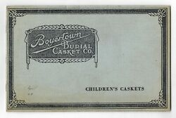 Antique Boyertown Burial Casket Company Funeral Childs Coffin Catalog Mortuary