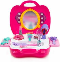 Toysery Pretend Play Cosmetic and Makeup Toy Set Kit for Little Girls amp; Kids $18.89