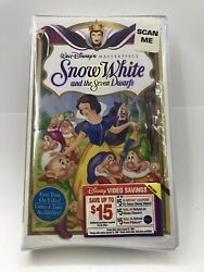 Disney Snow White and the Seven Dwarfs Masterpiece Collection VHS + SECRET GIFT!
