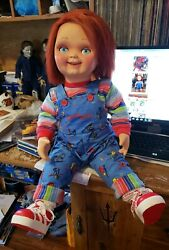 Good Guy Doll Child's Play Talking Chucky Life Size 30 Inch Tall w Extras