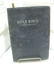 Holy Bible New Kjv Red Letter Black Genuine Leather Cover Nelson 1970 Pre-owned