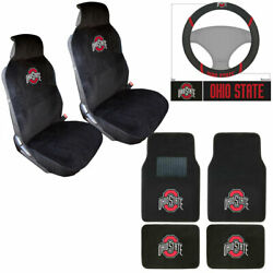 Ncaa Ohio State Buckeyes Car Truck Seat Covers Steering Wheel Cover And Floor Mats