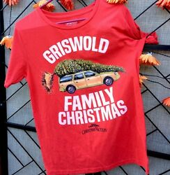 Griswold Family Christmas Vacation Station Wagon T Shirt Red Womenandrsquos Jr 11-13
