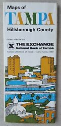 Vintage 1970 Road Map Of Tampa - The Exchange National Bank Master Charge