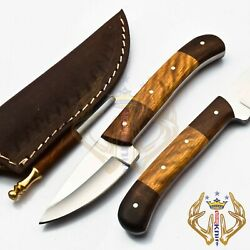 Beautiful Hand Made D2 Steel Hunting Knife Handle Rose And Olive Wood.