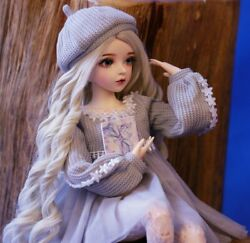 60cm Bjd Doll Gifts For Girl Doll + Clothes Changeable Eyes Diy Full Set Outfit
