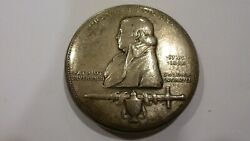 Ans Paul Revere Ride 1925 2 1/2 Silver Medal By Anthony De Francisci 65 Minted