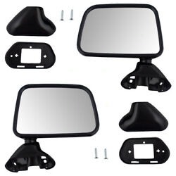 Fits Toyota Pickup 89-95 W/ Vent Window Set Of Side View Manual Textured Mirrors