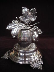 Antique Portugal Portuguese Silver Toothpick Holder