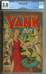 Fighting Yank 23 Cgc 3.0 Cr/ow Pages // Golden Age Classic Alex Schomburg Cover