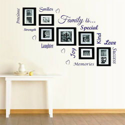 3D Family Tree Photo Picture Frame Collage PVC Wall Stickers Removable Decor