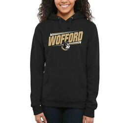 Wofford Terriers Women's Double Bar Pullover Hoodie - Black