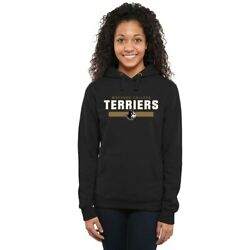Wofford Terriers Women's Team Strong Pullover Hoodie - Black
