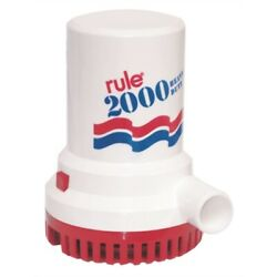 Rule 11 Non-automatic Bilge Pump 32v 2000 Gph Ignition Protected 1-1/8 Hose Md