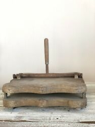 Rare Antique 1890and039s Wood Copying Press / Book Press