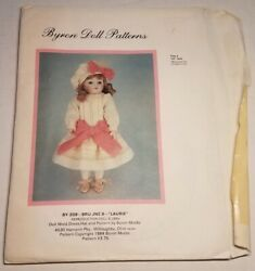 Byron Doll Patterns By 209 Bru Jne 9 Laurie Fits 10and039 Dolls Head To Toe Cut +