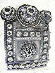 Russian Empire Caucasus Antique Filigree Silver One Part Of Buckle 101 Gr. 19th