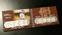 Ty Cobb 2008 Topps Sterling Game Used Bat 4/10 Booklet With Box