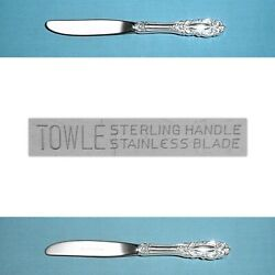 Towle Sterling 6 3/4 Modern Hollow Butter Spreaders Grand Duchess No Mono