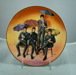 The Beatles Delphi 15 Collector Plate Set 2 Wood Display Shelves Included