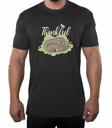 Thankful Baby Deer Menand039s Shirts Funny Menand039s Tees Thanksgiving Shirts For Men