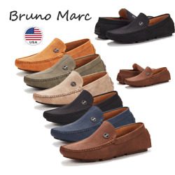 Bruno Marc Men Driving Loafers Dress Shoes Casual Slip On Flat Moccasins 6.5 15
