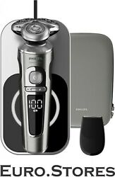 Philips Sp9861/13 Shaver Series 9000 Wet/ Dry Shaver + Qi Charging Pad Silver