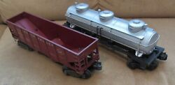 Lionel 6415/6456 Sunoco 3 Dome Tank Car,and Lehigh Valley Hopper,