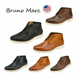 Bruno Marc Men#x27;s Casual Dress Chukka Genuine Leather Lace Up Oxford Ankle Boots $19.99