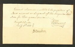 Va Military Certificate For Revolutionary Continental Line Service Edward Newman