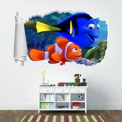 Finding Nemo Dory 3d Torn Hole Ripped Wall Sticker Decal Decor Art Disney Wt322