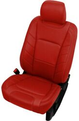 2015-2020 Ford F-150 Xlt Stx Supercrew Leather Seat Covers Salsa Red Limited